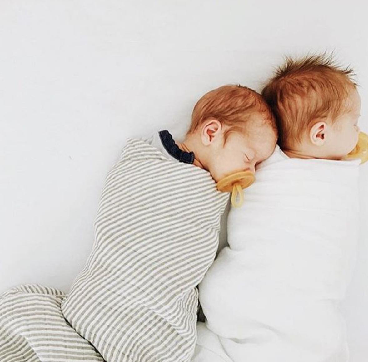 Grey Stripe Swaddle Littleunicorn Ginger Babies Redhead Baby Boy Redhead Baby