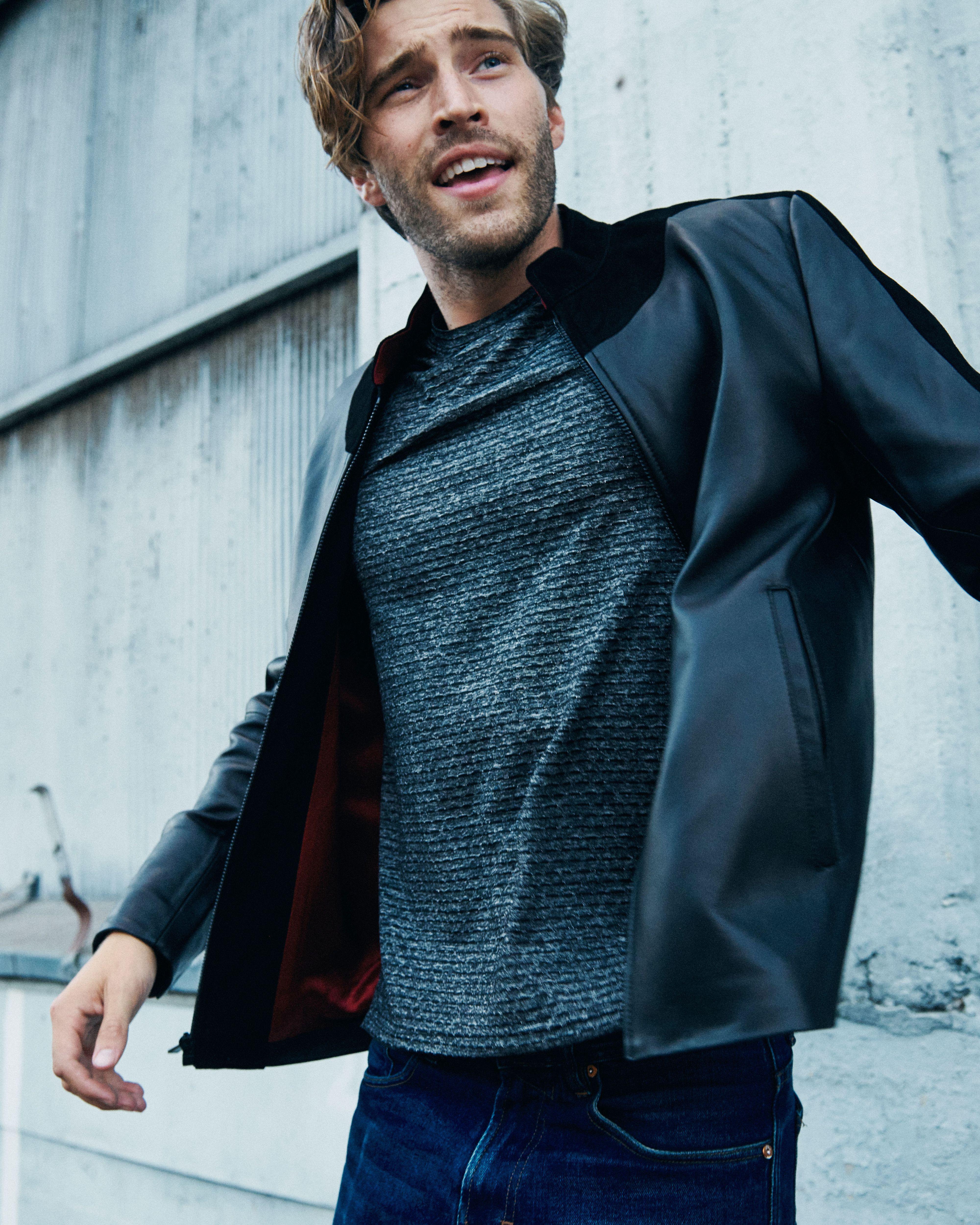 Pin On Men Leather Jacket [ 5000 x 4000 Pixel ]