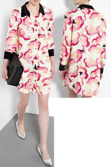 Sonia by Sonia Rykiel Cloud Print Shirt Dress