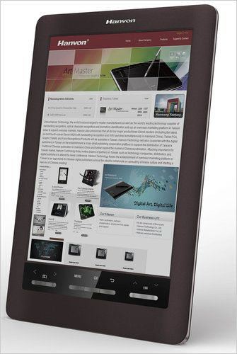 Hanvon S Ereader Uses A Color E Ink Display And Will Be The First To Go On Sale E Ink Display Ereader Ink
