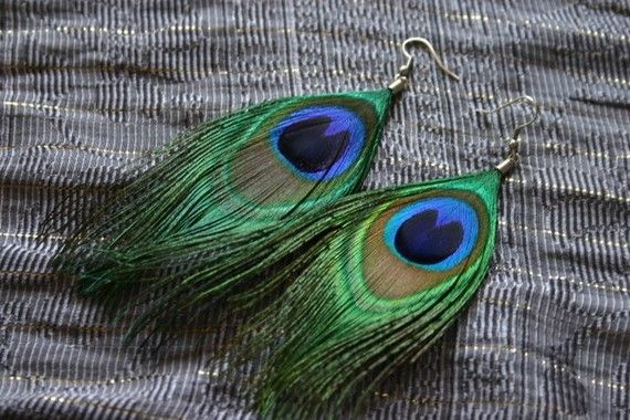 Hey, I found this really awesome Etsy listing at https://www.etsy.com/listing/83012930/i-hear-monsoon-peacock-feather-earring