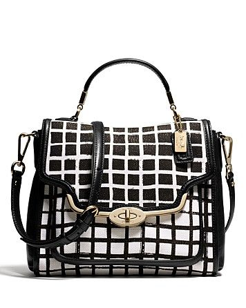 COACH Madison Small Sadie Flap Satchel in Graphic Print Fabric
