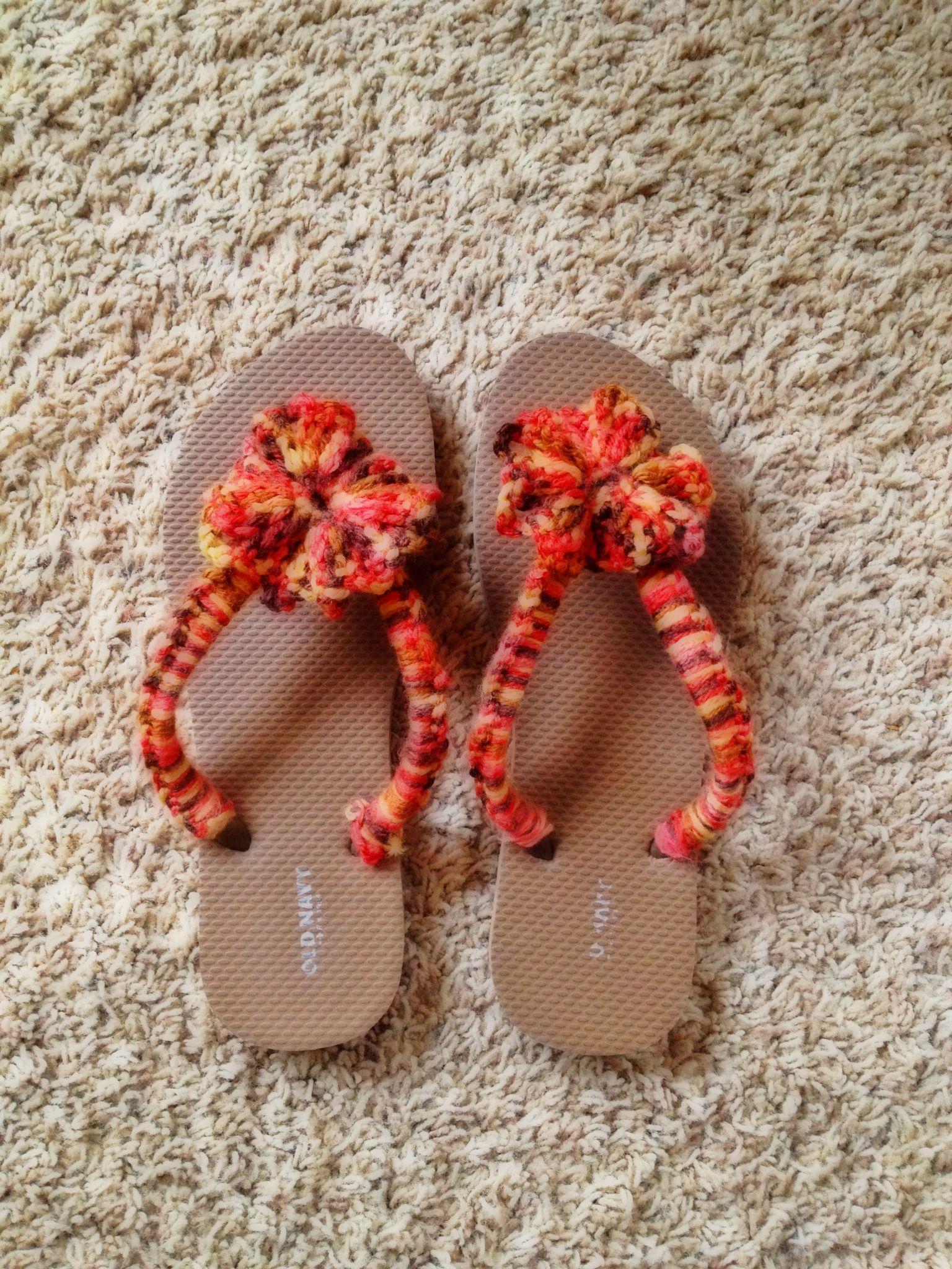 Crochet Flip flops and transform   Crochet   Pinterest