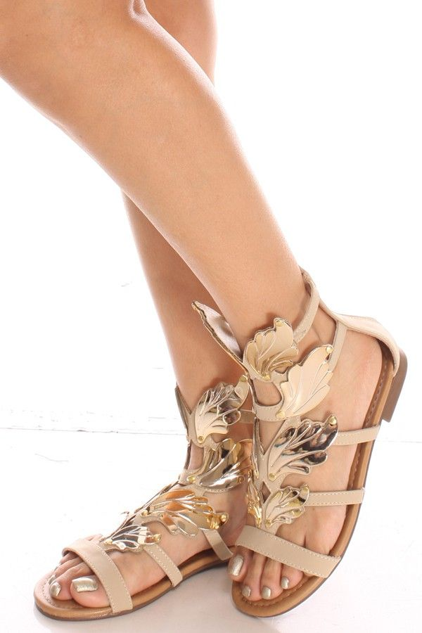 a457089c75 beige sandals#golden sandals#flat sandals#sexy sandals#women sandals#cute  sandals#cheap sandals