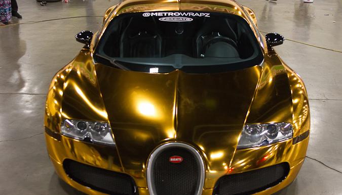 Flo Rida Wraps His Bugatti In Gold Photos Carhoots In 2020 Bugatti Veyron Sports Cars Luxury Sport Cars