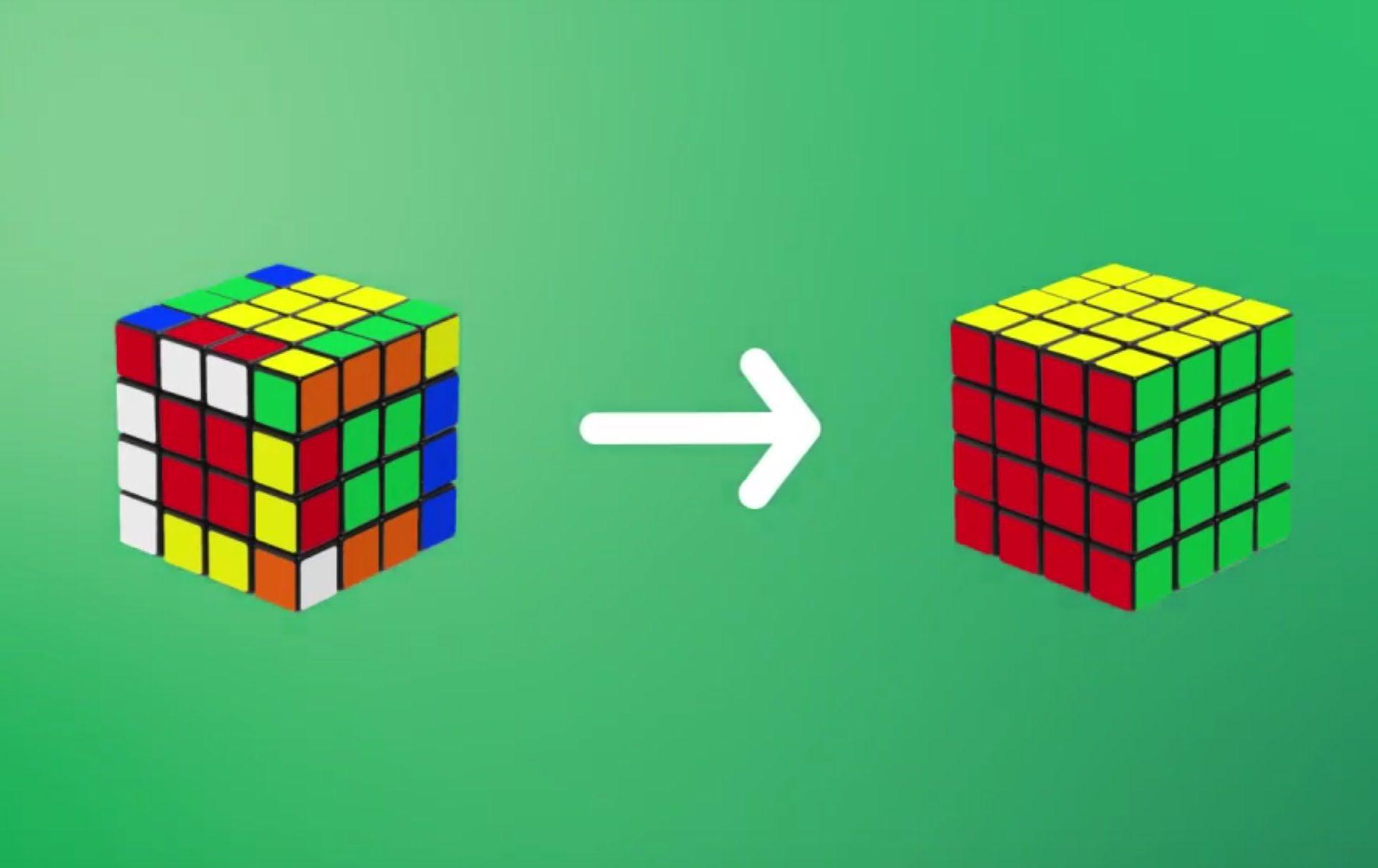 схема собирания второго слоя кубика-рубика