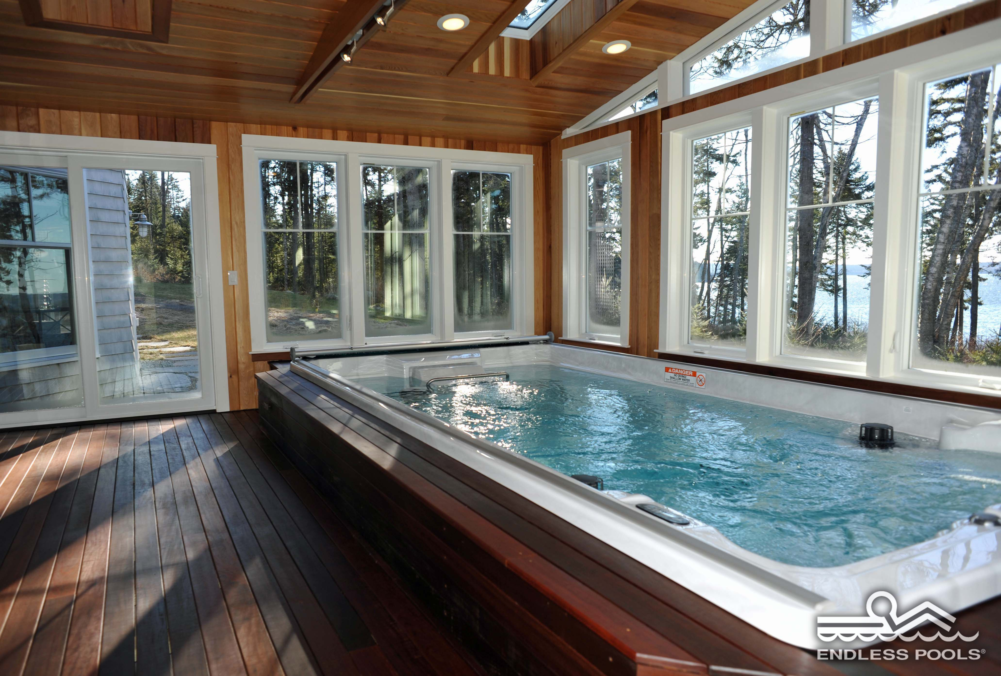 Jacuzzi Endless Pool The Sunroom Swim Spa A Beautiful Escape For Exercise And