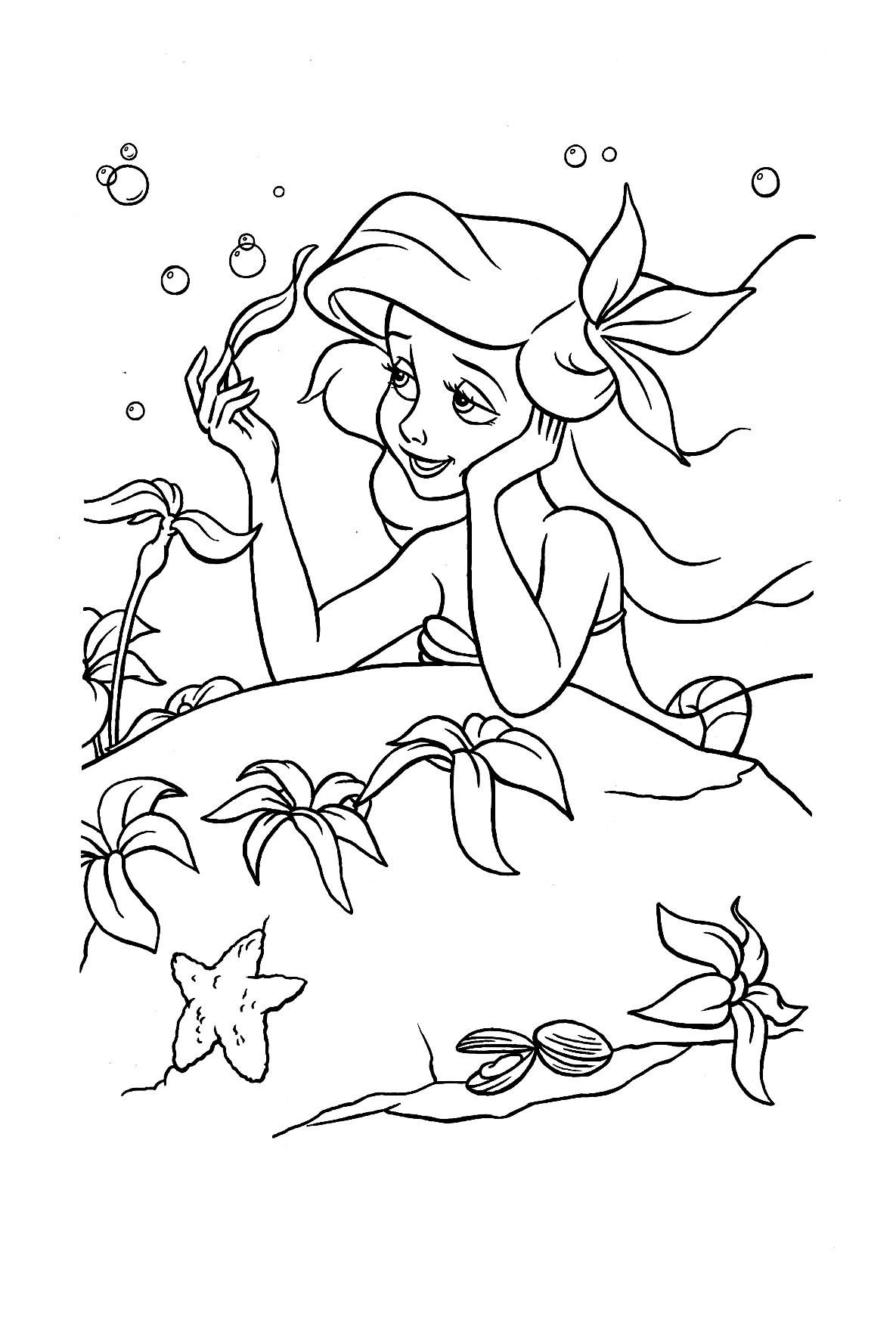 48+ Printable little mermaid coloring pages info