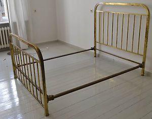 Altes Messing Bett Art Deco Bauhaus Doppelbett Doppelbett Bett