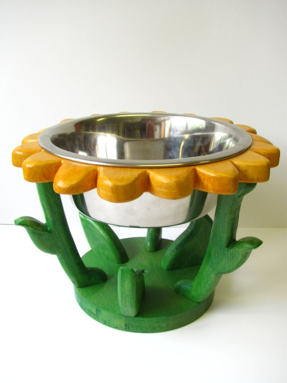 Cc2kdesign funky pet bowl stands dog bowl stand