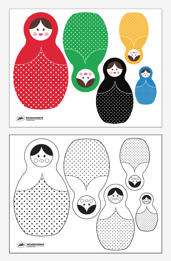 Free Printable Russian Nesting Dolls Paging Supermom Nesting Dolls Craft Nesting Dolls Russian Nesting Dolls