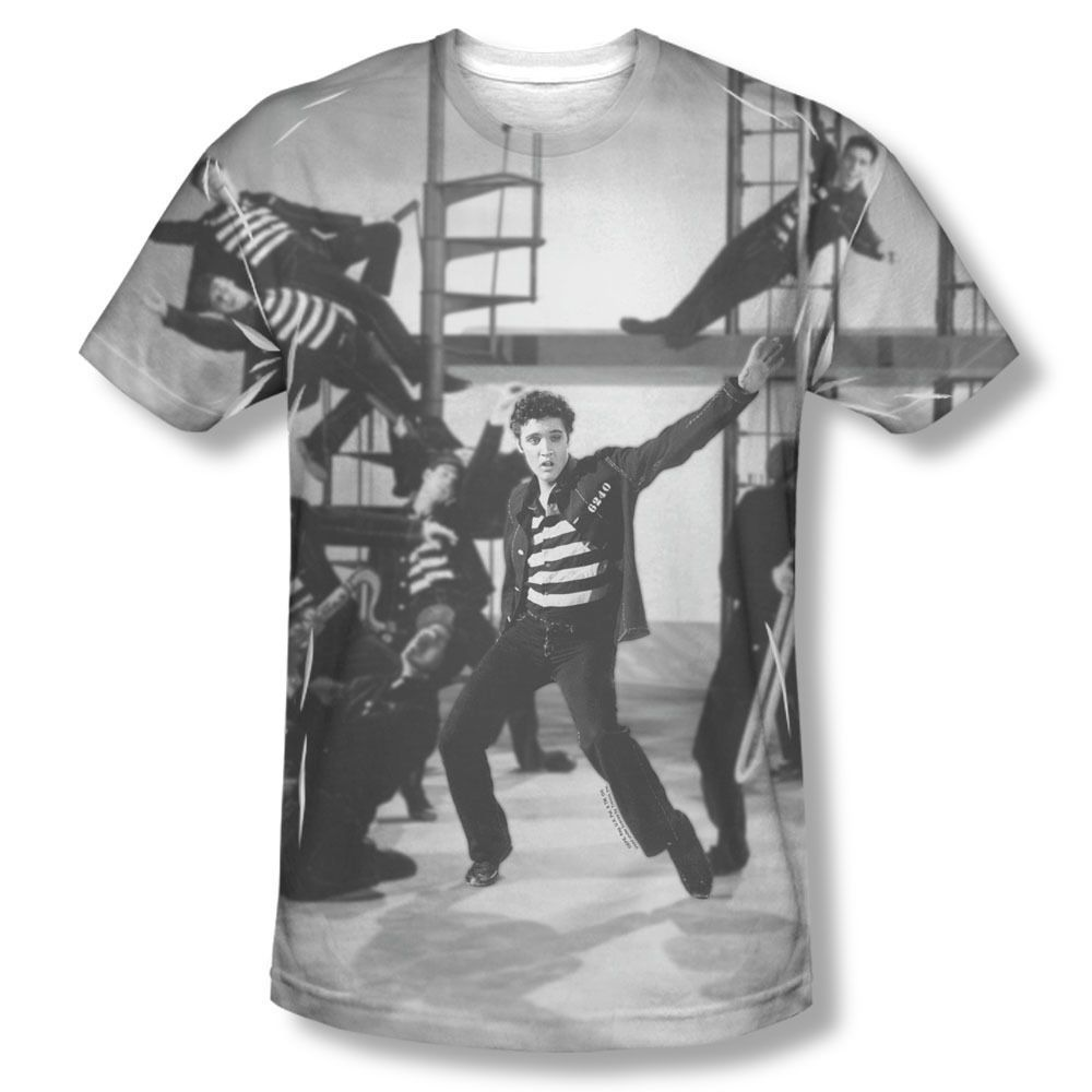 e7be33e8314e4 New Elvis Presley Jailhouse Rock Photo Sublimation ALL OVER Vintage T-shirt  top Mens Sizes  S