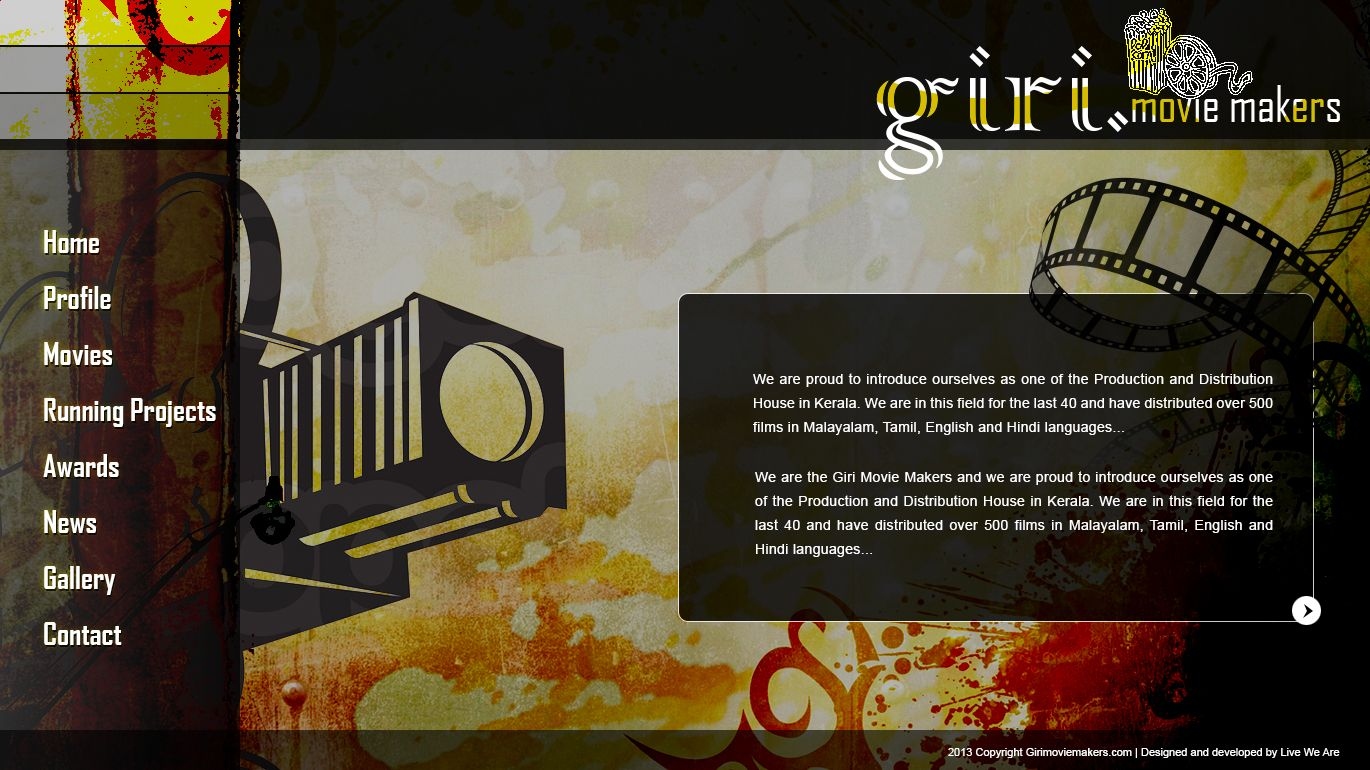 Designed For Giri Movie Makers Web Template Templates Maker