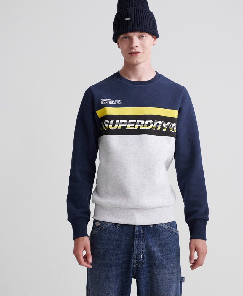 Superdry Worldwide Panel Crew Sweatshirt Mens Sale Hoodies Sweatshirts Hoodies Men Sweatshirts Mens Sweatshirts Hoodie [ 1000 x 820 Pixel ]