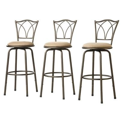 Landen Double Cross Back Barstools Set Of 3 Bar Stools Adjustable Bar Stools Adjustable Stool