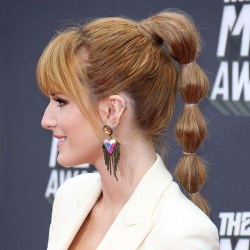 Quick Cute And Easy Ponytail Variations Glam Radar Long Thin Hair Long Fine Hair Celebrity Short Hair