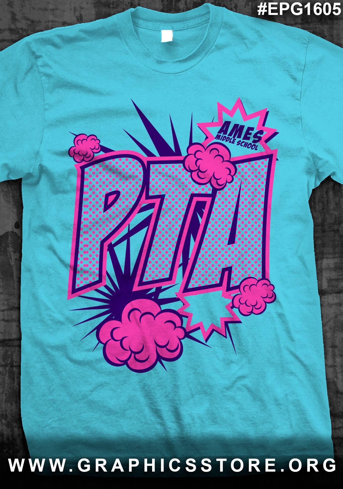 605ba30f9 EPG1605 Comic Book PTA School Shirt Design | PTA | Pta school ...