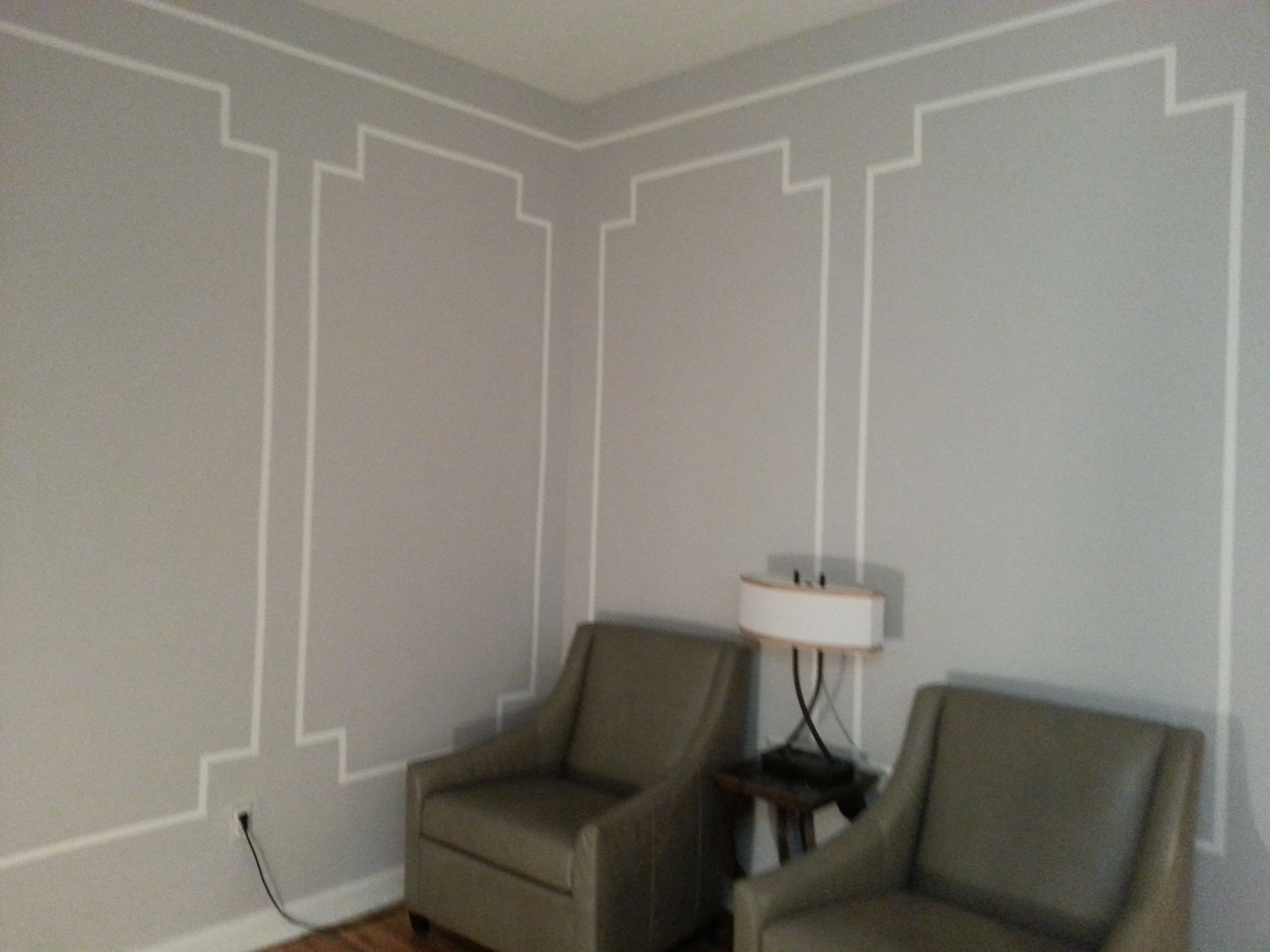 Walls with faux picture frame wall moldings color is bm walls with faux picture frame wall moldings color is bm perspective with white jeuxipadfo Images