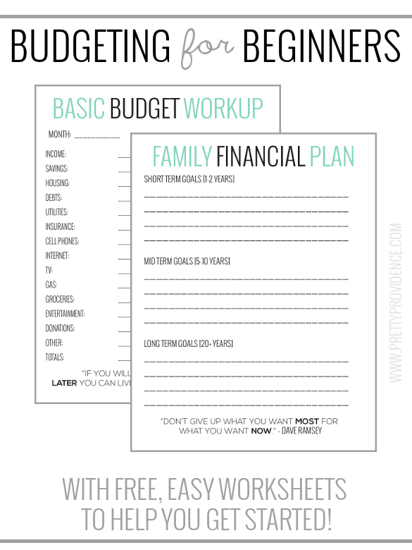 Basic Budgeting with free worksheets to get you started ...