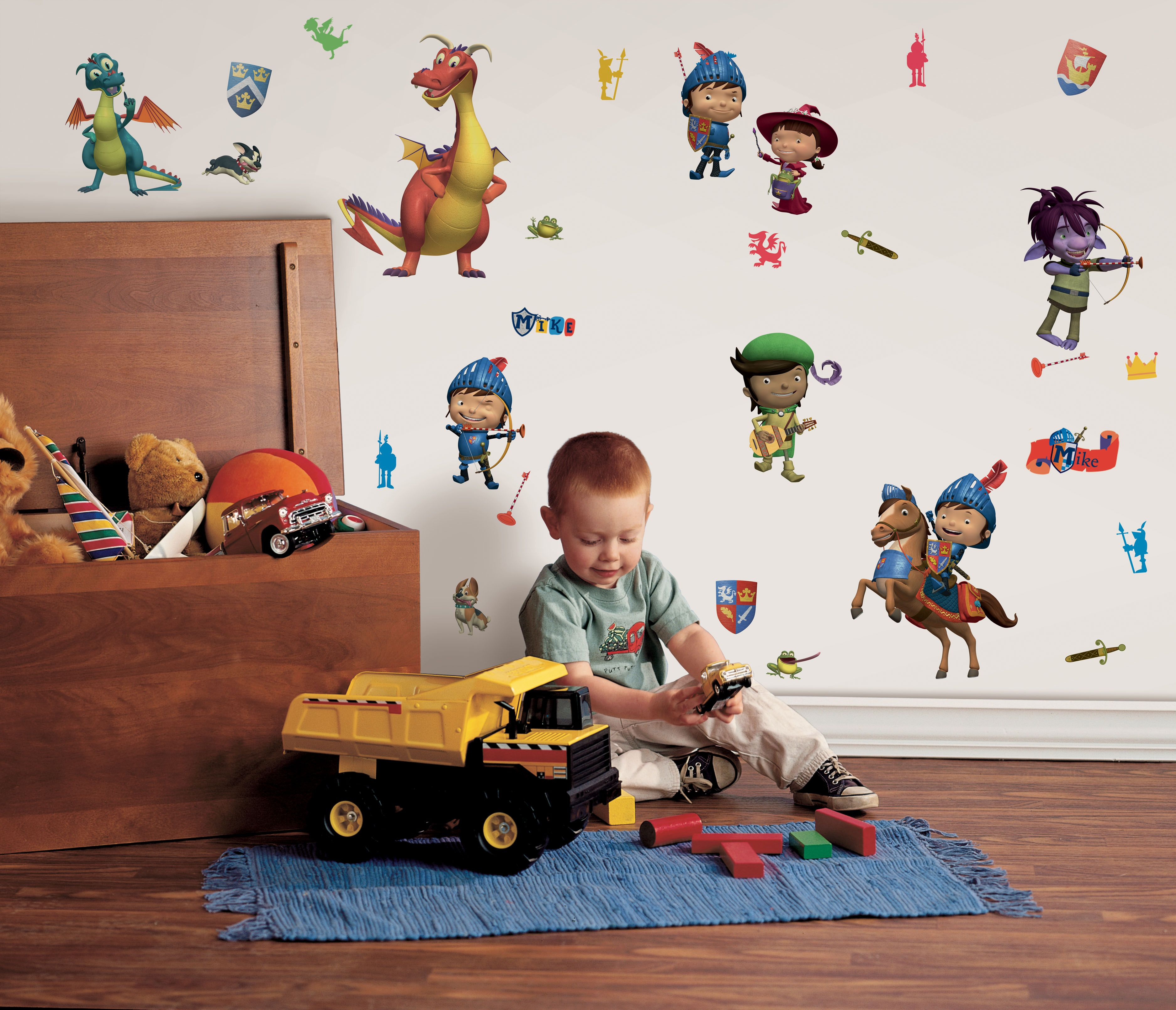 Mike The Knight Wall stickers Wall stickers red, Wall