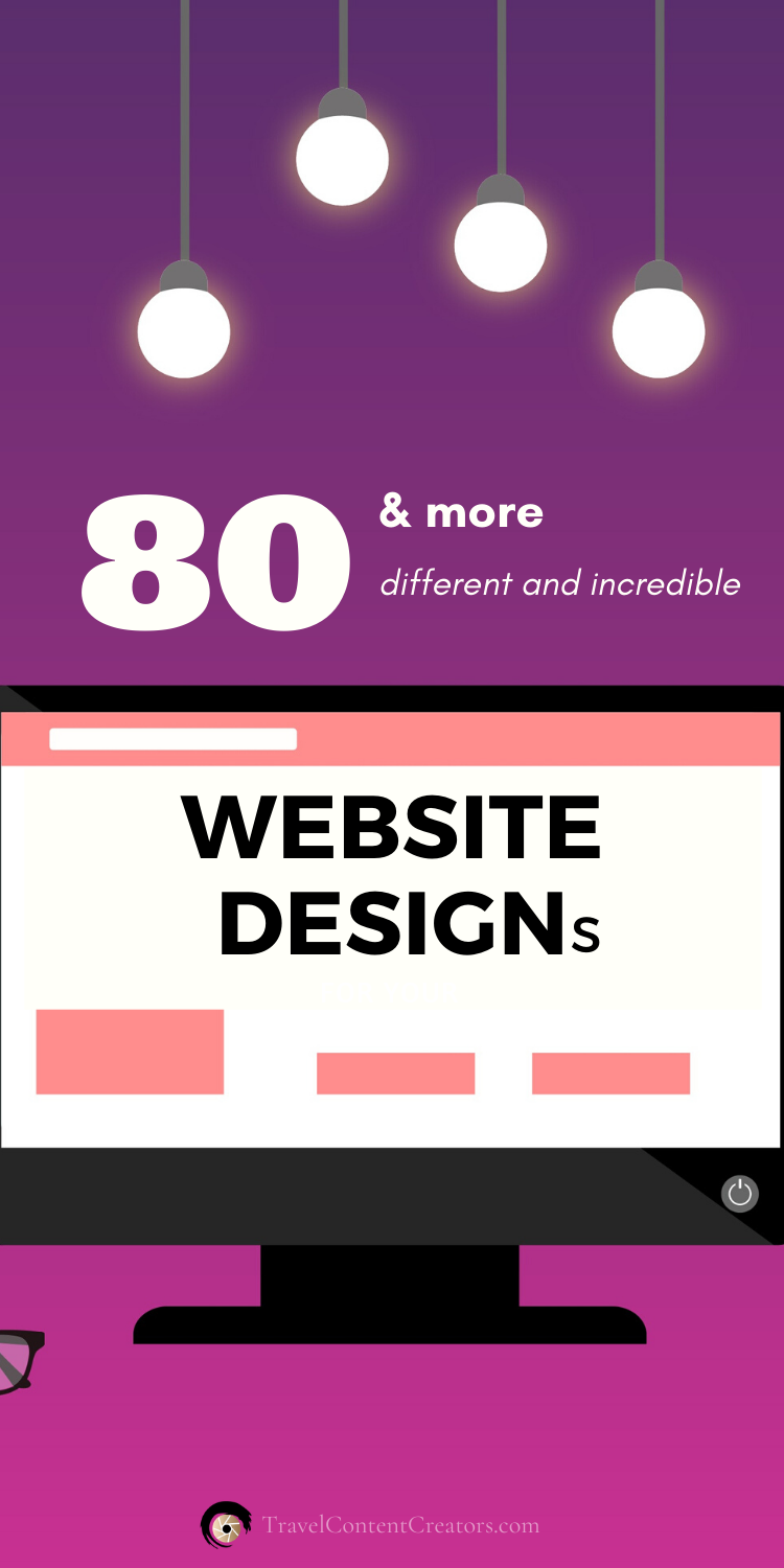 80 and MORE different and incredible Website Designs! You