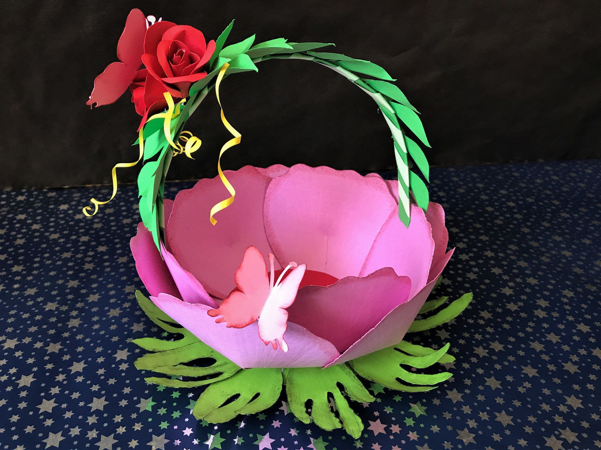 Diy Paper Flower Basket Diy Gift Basket Tutorial Cesta De Regalo