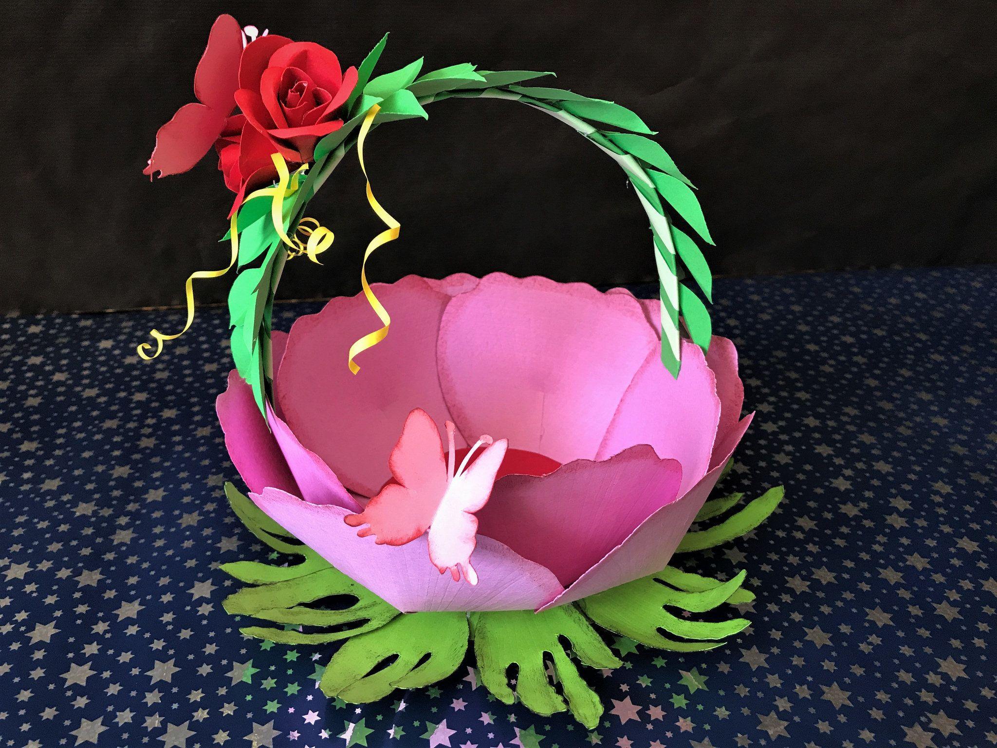 Diy paper flower basket diy gift basket tutorial cesta de regalo diy paper flower basket diy gift basket tutorial cesta de regalo mightylinksfo