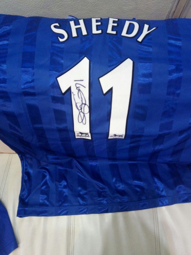 Everton Shirt 1986 Kevin Sheedy EVERTON MEMORABILIA