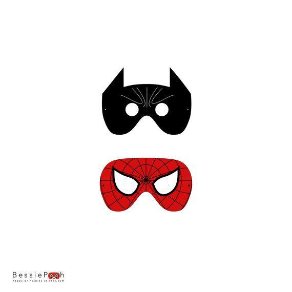 Spider Man Mask Template Batman And Spiderman Mask Printable Pdf