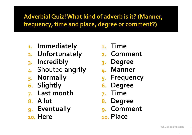 29 Adverbial Phrase Exercises Simbologia