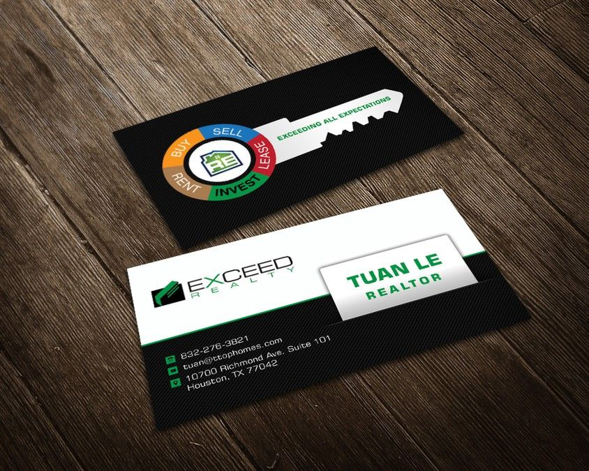 Create a UNIQUE and Creative business card for a real estate agent ...
