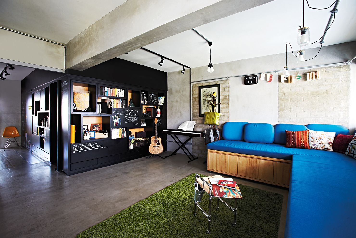Hdb Home Decor Ideas Part - 27: An Open-concept Three Room HDB Flat