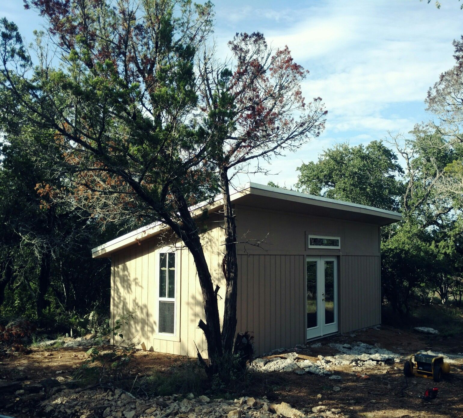 This is the tuff shed premier pro studio that we had installed on a 12x24 slab