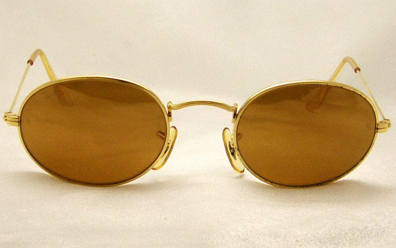 008d67679e4 VINTAGE USA B L RAY BAN ROUND GOLD FILLED DIAMOND HARD AVIATOR SUNGLASSES !