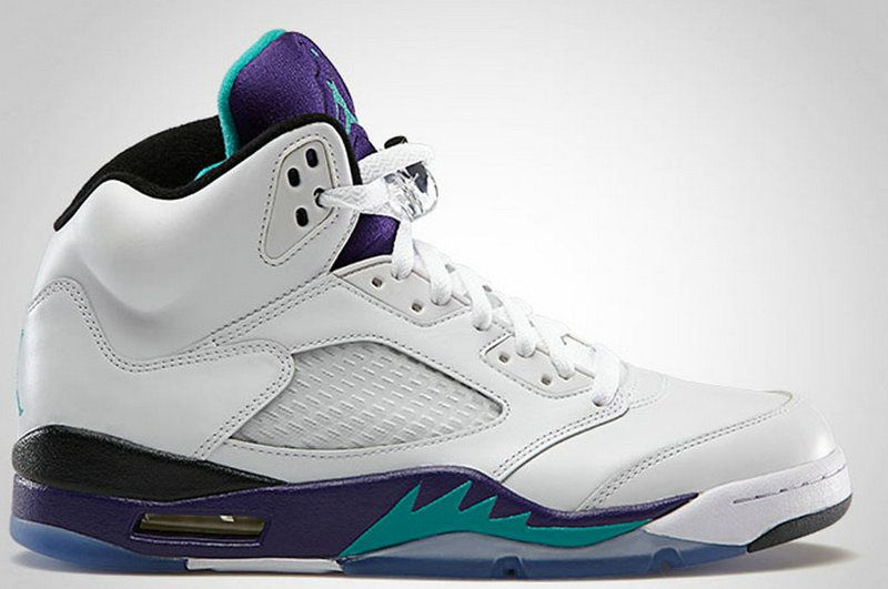 newest 94d94 7fde9 Air Jordan 5 Retro Grape White New Emerald Grape Ice Black