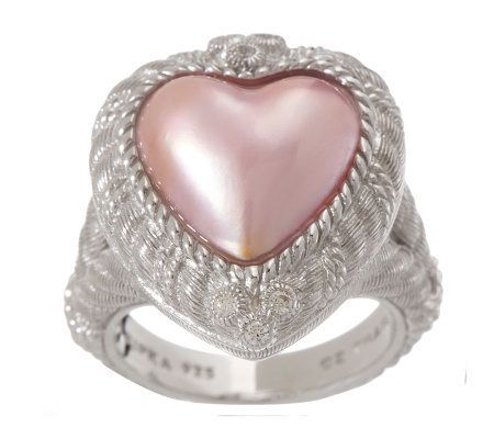 Judith Ripka Sterling Pink Opal Cabochon Textured Ring Now on Sale!