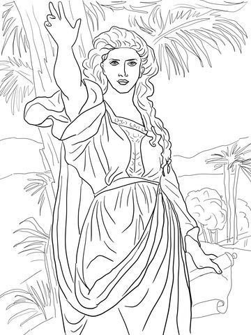 deborah judges bible coloring pages | Deborah (Judges 4-5) | Bible coloring pages, Sunday school ...