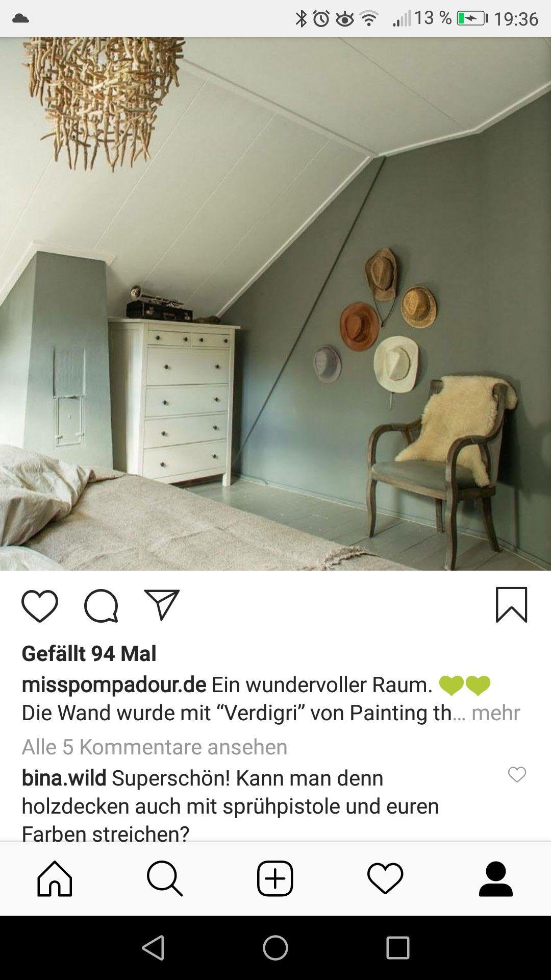 Pin Von Manije Hellwig Auf Schlafzimmer Holzdecken Raum Wande