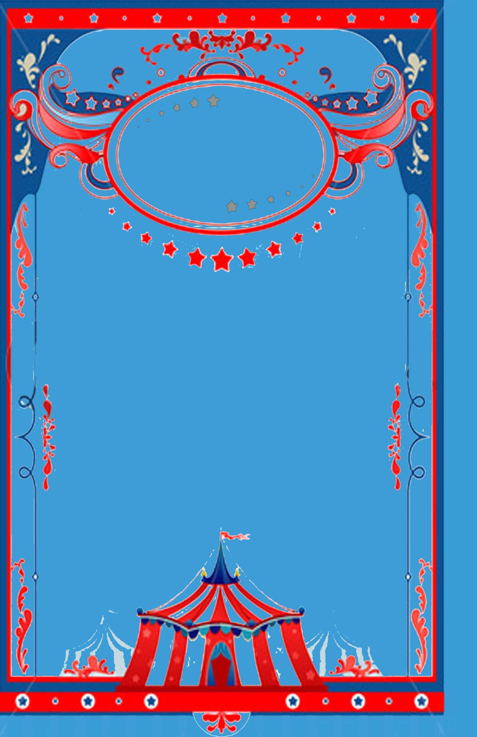Circus theme background template Baby shower