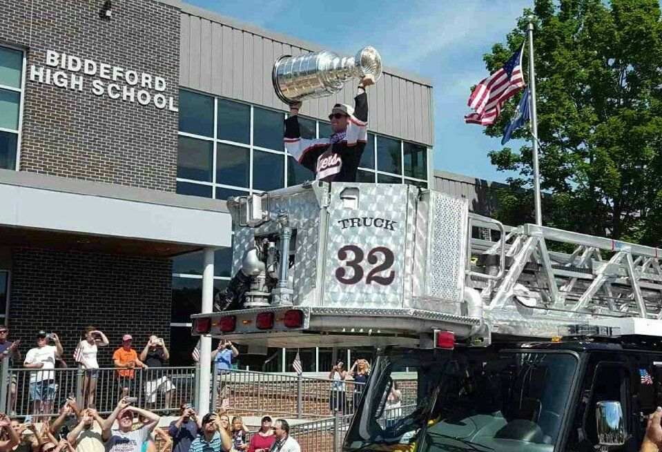 Brian Dumoulin Took The Stanley Cup Back To His High School In Biddeford Maine Lets Go Pens Pittsburgh Penguins Pens Hockey