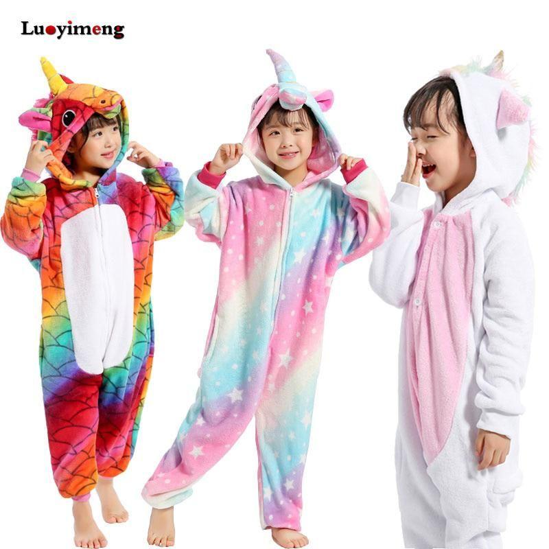 Girls' Clothing Blanket Sleepers Kigurumi Kids Unicorn Pajamas Animal Panda Pyjamas Onesie Boys Girls Sleepwear Jumpsuit Children Sleepers Baby Child Blanket