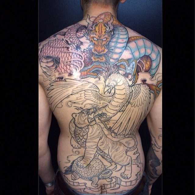 #tattoo #backtattoo #color This is my second session I had done on my back.