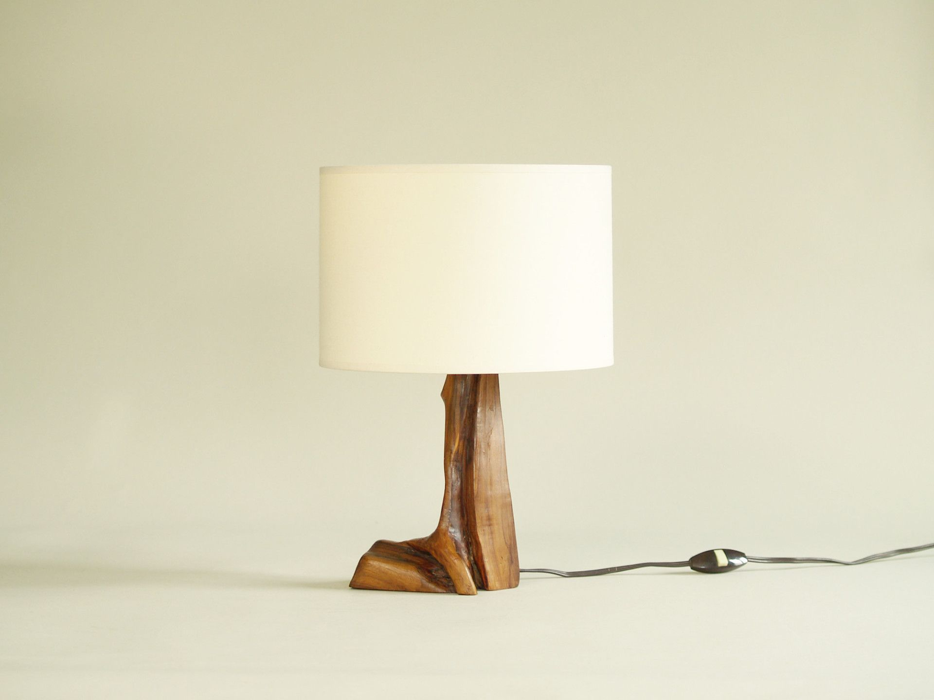 Lampe De Table Organique En Olivier France Vers 1950 Free Form Bio Table Lamp Table Lamp