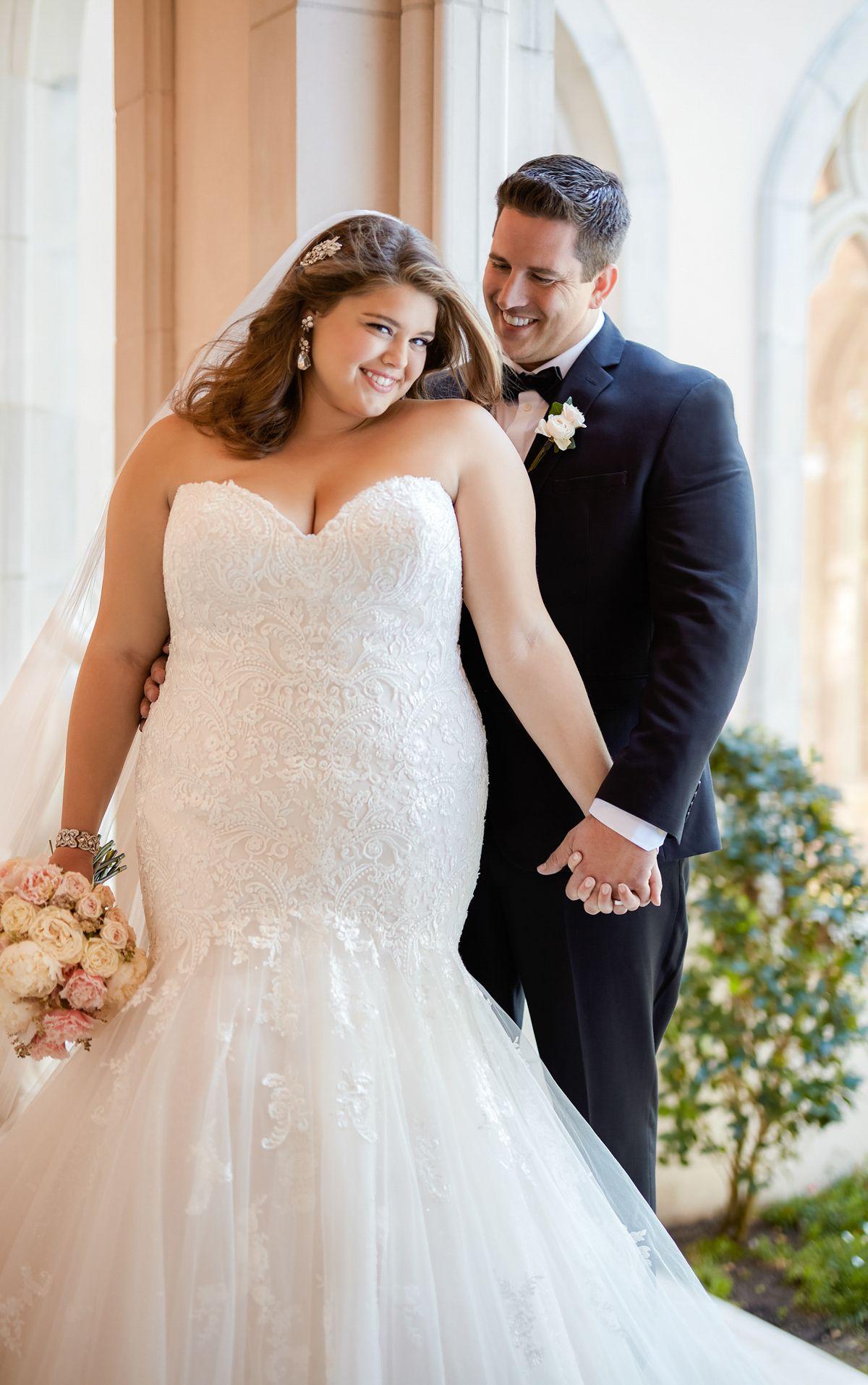 Blue plus size wedding dresses  Lace Wedding Dresses  Stella york Lace wedding dresses and Lace