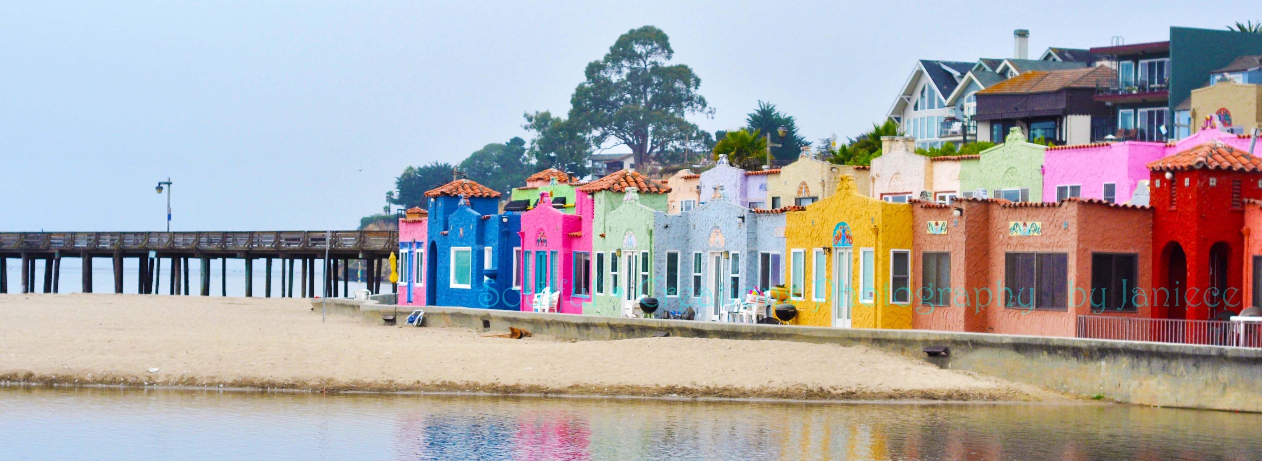 Capitola California Beach Houses Vibrant Senior Pictures
