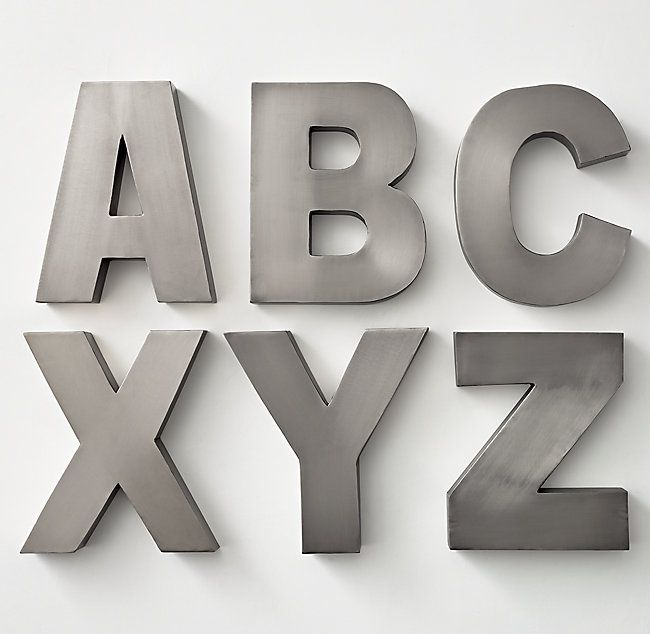 Modern Metal Letters Modern Metal Letter  Playroom Ideas  Pinterest  Metals
