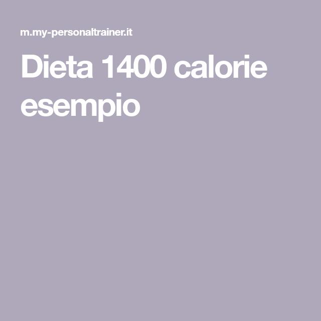 dieta di 1400 calorie al giorno