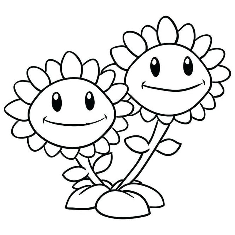 Plants Vs Zombies Coloring Pages Sunflower Coloring Pages Plants Vs Zombies Birthday Party Plant Zombie