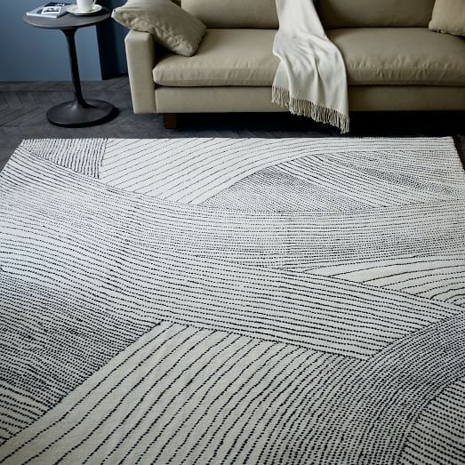 Ribbon Waves Wool Rug West Elm