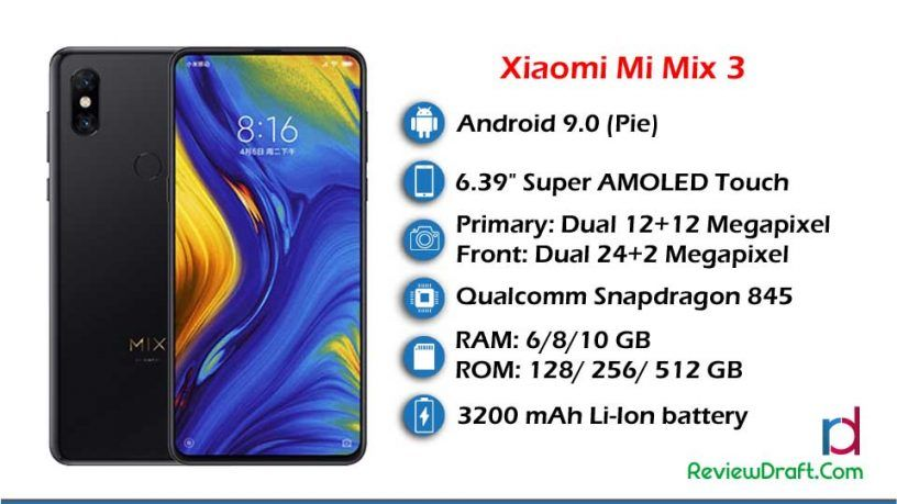 Xiaomi Mi Mix 3 Price In Bangladesh Full Specification Review Draft Xiaomi Phone Mobile Phone
